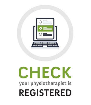 Icon of Laptop with Checklist - Check Your Physiotherapist is Registered